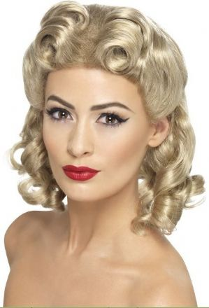 1940's Sweetheart Blonde Wig (26230)
